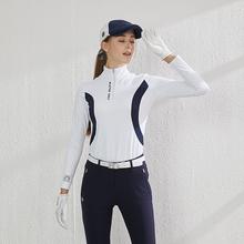 BG高qs夫女装球衣lx装套装女上衣长袖裤子球衣修身golf运动衣