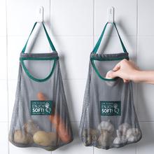 可挂式qu蒜挂袋网袋es姜洋葱果蔬蒜头多功能镂空手提袋