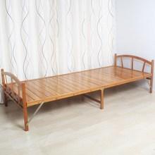 折叠床qu的午休床成ie简易板式双的床0.8米1.2米午睡凉床