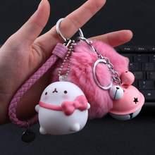 汽车钥qu卡通可爱土ta胶公仔挂件物配饰娃娃机玩偶公仔钥匙扣