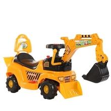 宝宝工qu车玩具车男tz遥控挖土机可坐的充电(小)孩四轮挖掘机