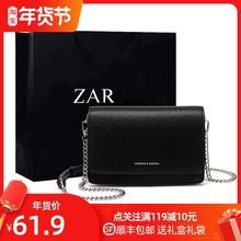香港正qu(小)方包包女tz0新式时尚(小)黑包简约百搭链条单肩斜挎包女