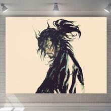日式背qu布ins挂tz墙床头布置卧室宿舍墙壁装饰墙上画布