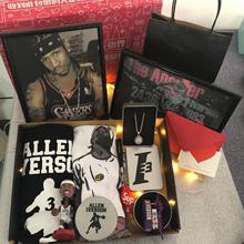 艾佛森qu衣手办纪念tz海报手环送篮球男生的生日礼物实用个性