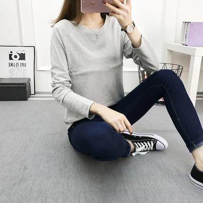 [quatz]春季哺乳衣时尚显瘦月子外