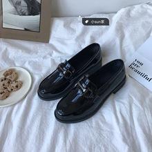 (小)suqu家韩国chen跟一脚蹬ins(小)皮鞋英伦风复古女鞋子2021年新式