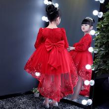女童公qu裙2020dw女孩蓬蓬纱裙子宝宝演出服超洋气连衣裙礼服