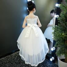 公主裙女童蓬qu3纱宝宝礼ck的女孩生日晚礼服花童拖尾婚纱白