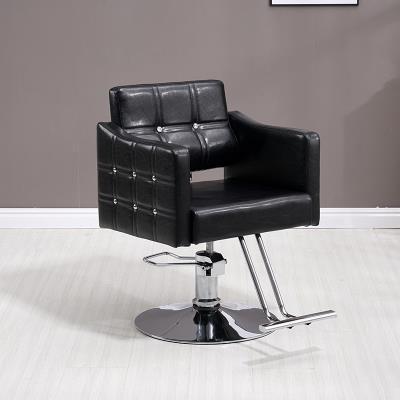 理发店qu子升降欧式yo用美发店椅子复古洗头床实木椅子