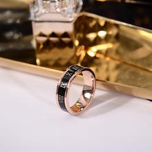 韩京韩款食指qu3戒指男女ng的个性可转动指环钛钢戒子配饰品