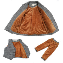 男宝宝qu童男童西装te气时尚英伦洋气男宝(小)西服(小)童男孩礼服