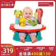 infquntinote蒂诺游戏桌(小)食桌安全椅多用途丛林游戏