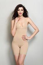 无痕连qu衣塑身 女er束腰瘦身衣 纯色开档束身衣美体塑身连体