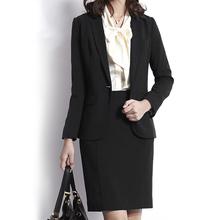 SMAquT西装外套er黑薄式弹力修身韩款大码职业正装套装(小)西装