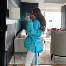 beaqv熊熊屋收腰ej士面包服冬季2020新式轻薄短式羽绒服女外套