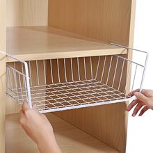 厨房橱qv下置物架大wn室宿舍衣柜收纳架柜子下隔层下挂篮