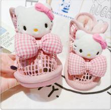 宝宝婴qw粉色kt雪af鞋加绒防滑软底宝宝棉靴石头纹婴儿学步靴