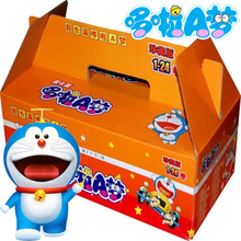 超长篇qw啦A梦漫画af4册珍藏款正款 全套礼盒装32K 6-12岁宝宝漫画书蓝