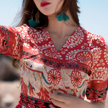 改良旗袍度假沙滩裙泰国风