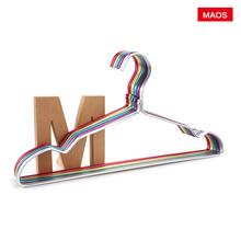 Maoqx炫彩铝合金tg架防滑晾衣架金属晒衣挂服装店展示晾晒衣撑