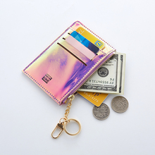 (小)卡包qy包一体包女bk镭射(小)巧超薄证件位零钱信用银行卡套女