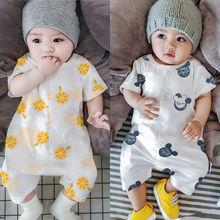 夏式新qy婴幼儿连体bk女宝宝纯棉短袖爬服3-6-9-12月连身衣服