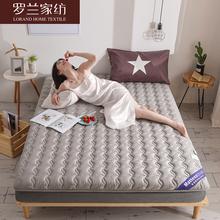 罗兰家qy全棉加厚抗jc子垫被单双的纯棉防垫1.8m床垫防滑