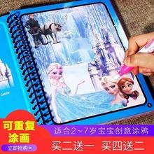 水彩画qy画本可以擦qw色笔(小)学生画图反复水洗绘画本(小)孩子