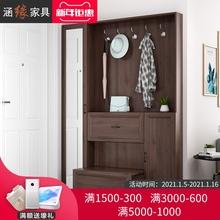 北欧薄qz挂衣柜鞋柜zm用门口玄关柜门厅柜和隔断柜