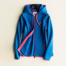 秋冬法r1休闲运动连1h短外套撞色长袖夹克加厚宽松拉链卫衣女