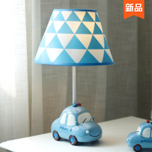 (小)汽车r2童房台灯男ec床头灯温馨 创意卡通可爱男生暖光护眼