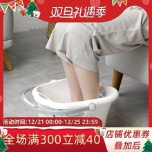 日本原r3进口足浴桶3f脚盆加厚家用足疗泡脚盆足底按摩器