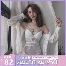 蜜桃盒r8性感蕾丝连8o女(小)胸聚拢夏天透气薄式调整型微塑身衣