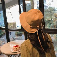 女韩款r9美软妹网红9s帽夏天棉麻蝴蝶结遮阳帽百搭帽子
