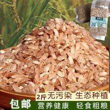 云南元ra哈尼粗粮自bi装软红香米食用煮粥2斤不抛光