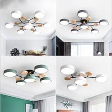 北欧后ra代客厅吸顶bi创意个性led灯书房卧室马卡龙灯饰照明