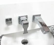 浴室柜ra盆洗脸盆墙de孔三件套水龙头抽拉式三孔开关配件