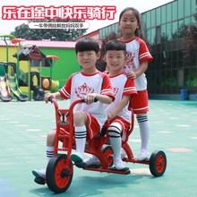 三轮车ra教幼儿园单de车(小)孩宝宝童车双的带斗户外玩具可带的