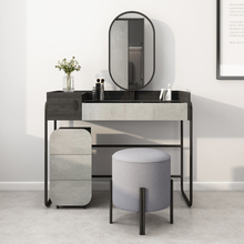 原创北rains风带mo能现代简约卧室收纳柜一体化妆桌子
