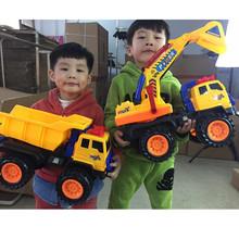 超大号挖ra机玩具工程si儿童滑行挖土机翻斗车汽车模型