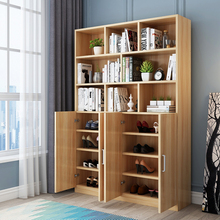 鞋柜一ra立式多功能nb组合入户经济型阳台防晒靠墙书柜