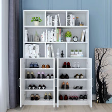 鞋柜书ra一体多功能nb组合入户家用轻奢阳台靠墙防晒柜