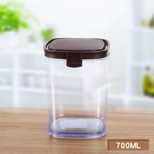 茶叶盒ra鲜盒塑料瓶nd密封罐n亚克力带盖调料大号储物瓶储存