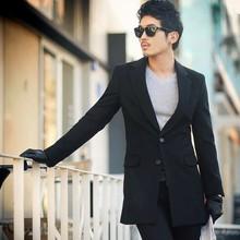 韩国代购男装2021冬款时ra10中长款an身立领大衣外套上衣