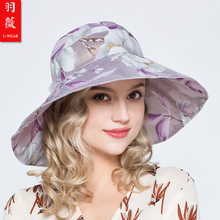 羽薇 ra士太阳帽春rl彩色遮阳帽防晒防紫外线纱帽帽檐可折叠