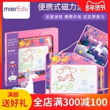 mieraEdu澳米rl磁性画板幼儿双面涂鸦磁力可擦宝宝练习写字板