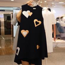 202ra夏季新品爱rlA字型中长式无袖连衣裙女时尚休闲港味裙子