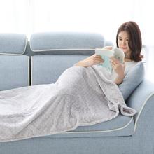 (小)毛毯被子夏ra3单的珊瑚rl调毯办公室午睡毯午休女盖腿毯子