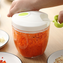 手动绞ra机饺子馅碎to用手拉式蒜泥碎菜搅拌器切菜器辣椒料理