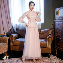 中国风rb服大合唱团rd中式仙气质修身古筝表演服
